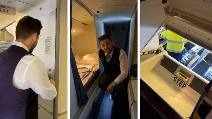 Kru Kabin Ungkap Pintu Rahasia di Pesawat yang Digunakan saat Keadaan Darurat