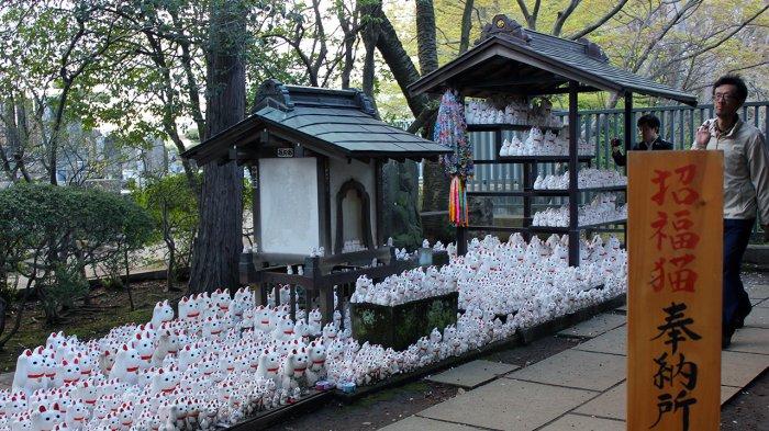 Kuil Gotokuji di Tokyo, Jepang.
