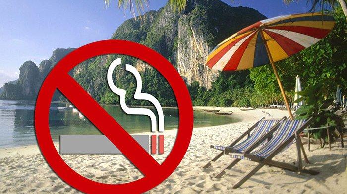 Larangan merokok di pantai