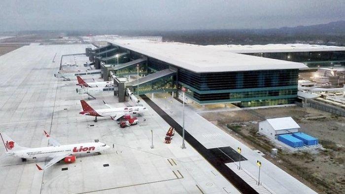 Ilustrasi maskapai Lion Air parkir di Yogyakarta International Airport (YIA).