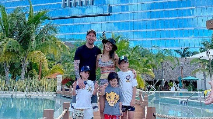 Usai Menang Copa America 2021, Lionel Messi Boyong Keluarga Liburan ke Miami