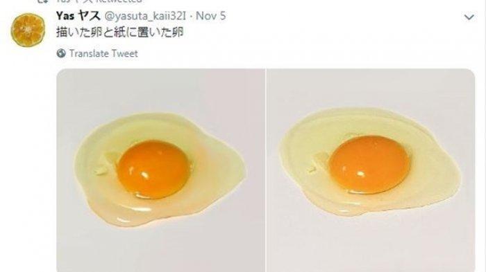 Saking Miripnya dengan Telur Asli, Karya Pelukis Jepang Ini Jadi Viral, Bisa Bedakan?