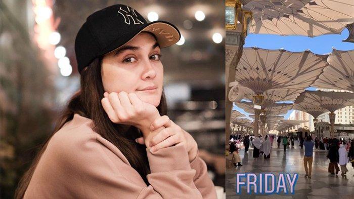 Syahrini dan Reino Barack Menikah, Intip Potret Luna Maya Kenakan Hijab Saat Umrah di Tanah Suci