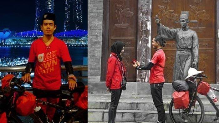 Cerita Luthfi Maizakusuma Bersepeda dari Malang ke Tiongkok Demi Lamar Sang Kekasih