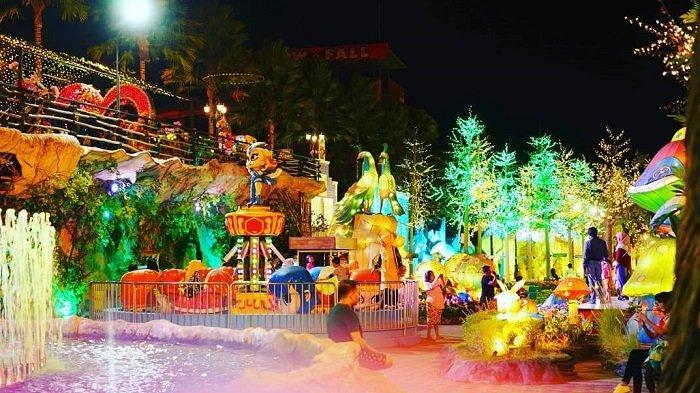 Malang Night Paradise, taman hiburan keluarga, Jumat (14/2/2020).