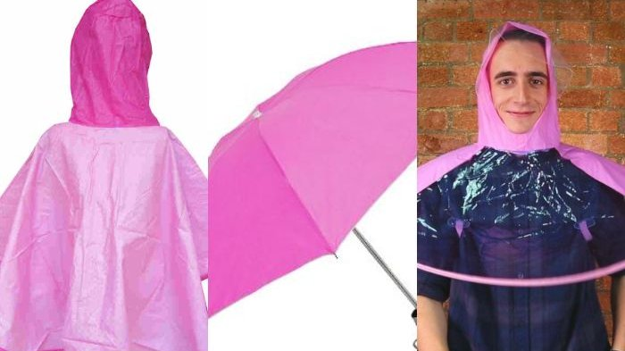 Sering Pegal Saat Pegangi Payung, Coba Gunakan Inovasi Terbaru Kombinasi Mantel dan Payung Ini