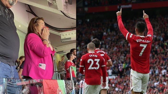 Viral Foto Tangis Bahagia Ibu Cristiano Ronaldo saat Saksikan Debut Sang Putra di Old Trafford