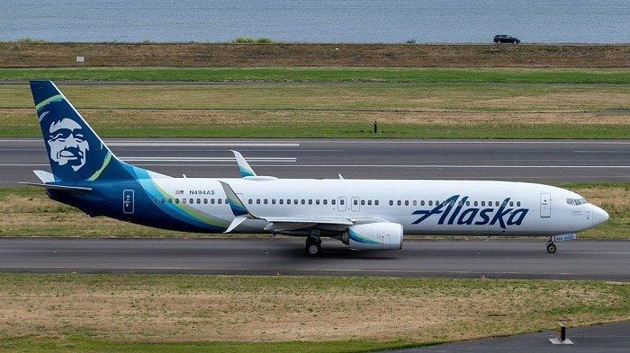 Ilustrasi pesawat Alaska Airlines