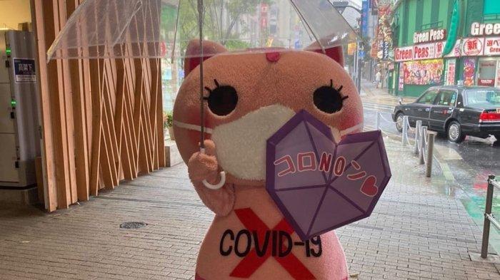 Mengenal Koronon, Maskot Kucing di Jepang yang Bagikan Masker dan Ingatkan untuk Jaga Jarak