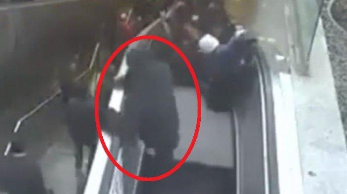 Video Ini Ungkap Detik-detik Mengerikan Saat Pria Tertelan Eskalator Rusak di Turki, Ya Ampun!