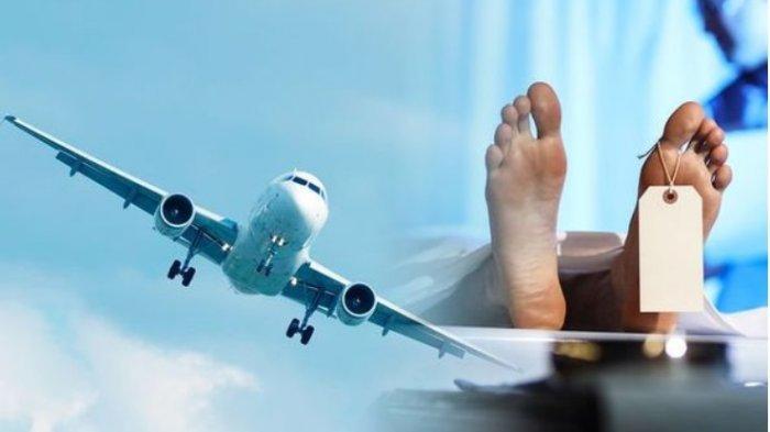 Ilustrasi penumpang yang meninggal di dalam pesawat