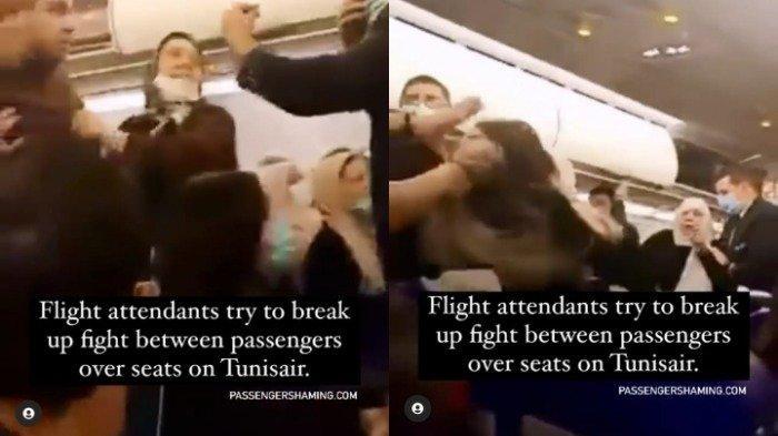 Viral di Medsos, Seorang Penumpang dan Awak Pesawat Terlibat Perkelahian hingga Jambak Rambut