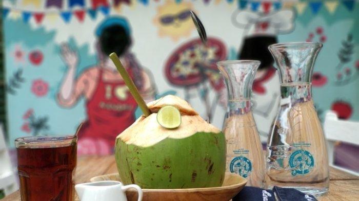 Ilustrasi kelapa muda