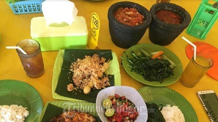 Menu makanan di Warung Sunda Sambal Dower