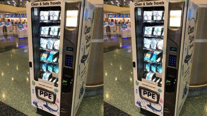 Bandara di Las Vegas Ini Punya Mesin Penjual Otomatis yang Tawarkan Produk APD