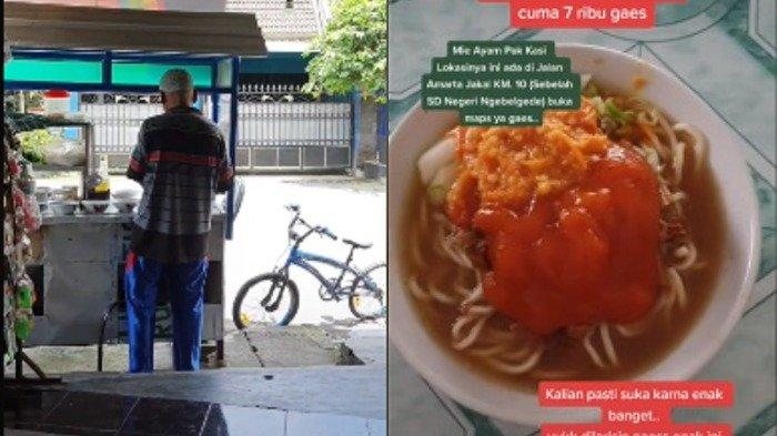 Pasangan Lansia Jualan Mi Ayam Porsi Jumbo Jadi Viral di TikTok, Harganya Cuma Rp 7 Ribu
