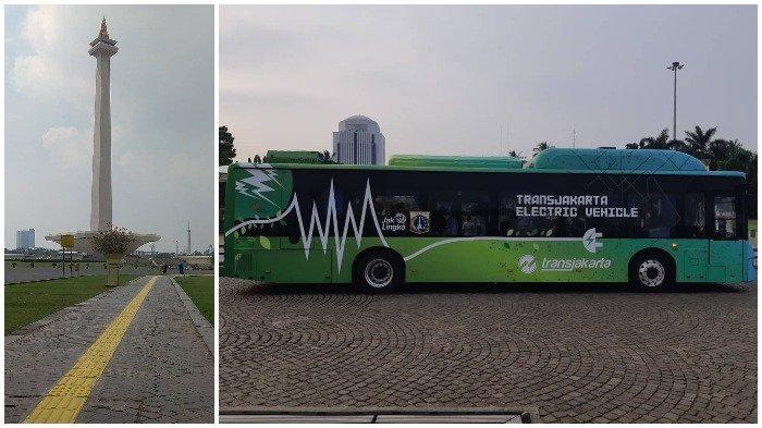 Wisata di Monas, Traveler Bisa Coba Naik Bus Listrik Transjakarta