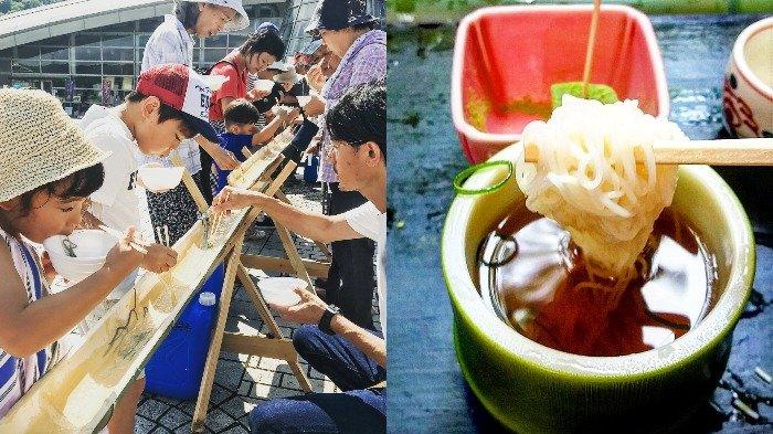 Nagashi Somen, Tradisi Menangkap Mi yang Meluncur di Atas Galah Bambu Berisi Air Dingin