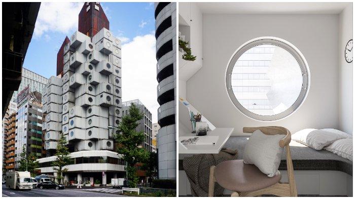 Nakagin Capsule Tower, Pilihan Pas Bagi Turis yang Ingin Liburan Lama di Jepang