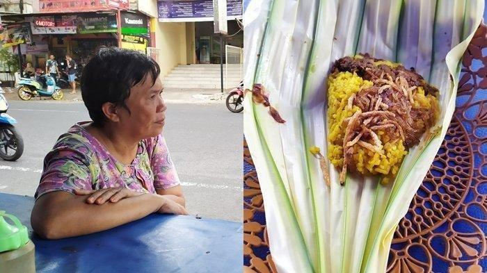 Uniknya Nasi Kuning Khas Manado, Pakai Daun Woka Sebagai Bungkus