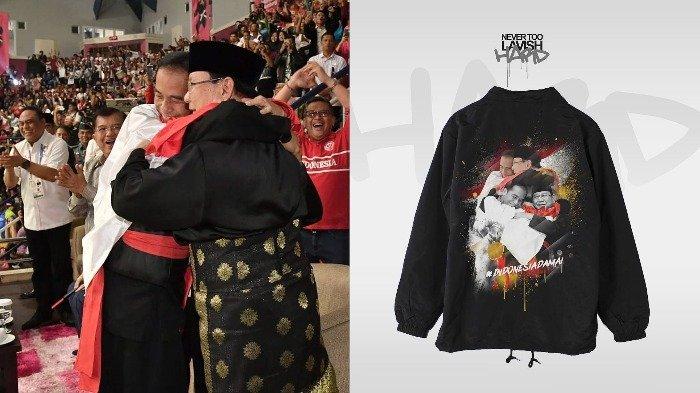 Segini Harga Jaket Custom Bergambar Jokowi-Prabowo Pelukan