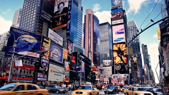 Times Square, New York City, Amerika Serikat.