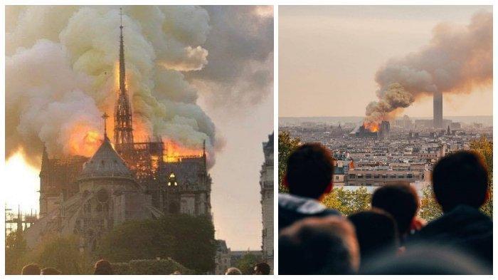 Gereja Katedral Bersejarah Sekaligus Situs Warisan UNESCO Notre-Dame di Paris Terbakar