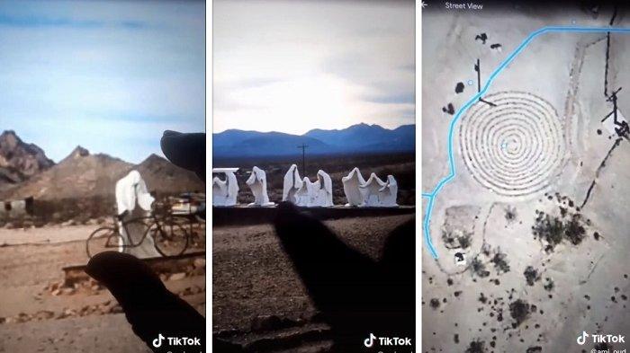 Terungkap Misteri Sekelompok Orang Berjubah Putih di Tengah Padang Pasir, Videonya Viral di TikTok