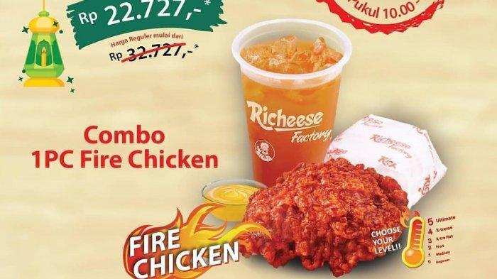 Promo Richeese Factory Ramadan 2019 - Paket Combo 1 PC Fire Chicken Cuma Rp 22.727