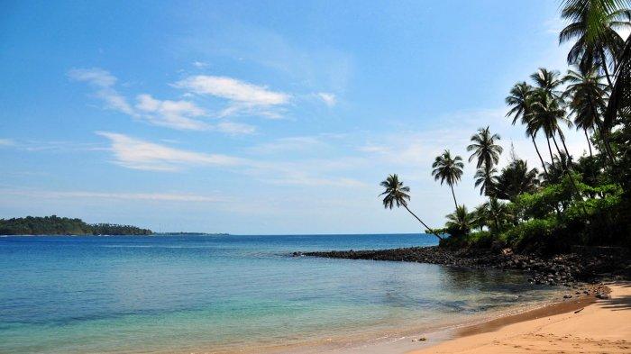 Pantai di Sao Tome & Principe, Afrika.