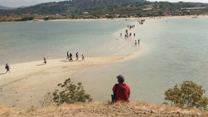 Rasakan Sensasi Berjalan di Laut Terbelah di Pantai Lariti Sumba, Bima NTB