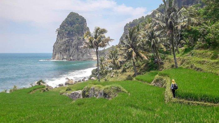Suasana Tenang Pantai Pangasan, Tempat Wisata di Pacitan yang Masih Jarang Dikunjungi