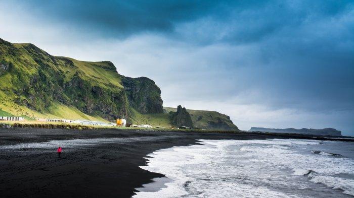 Pantai Pasir Hitam, Vik, Islandia