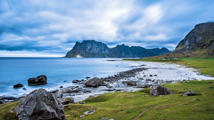 Pantai Utakleiv, Norwegia
