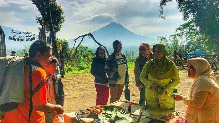 Pasar Tradisi Lembah Merapi, Pasar Unik di Bukit Gunung Gono yang Padukan Wisata Kuliner dan Alam