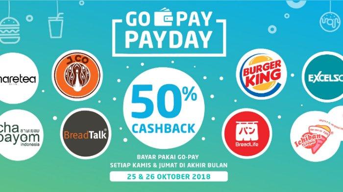Promo Oktober - PAYDAY Go-Pay Cashback 50%, Mau?