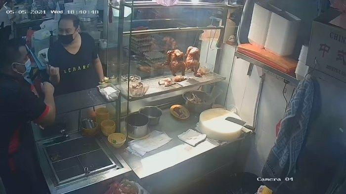 Kesal dengan Harga Tambahan Daging Ayam, Pria Ini Banting Nampan dan Lempar Piring ke Pelayan Kedai