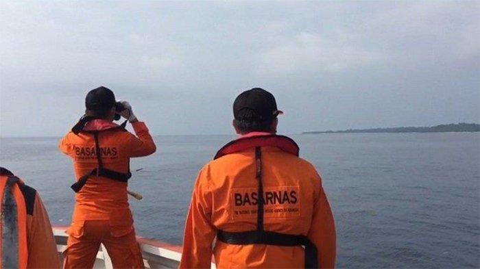 Pencarian warga negara asing yang dilaporkan hilang di Kepulauan Mentawai, Sumatera Barat, Minggu (29/8/2021).