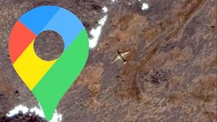 Misteri Bangkai Pesawat di Pulau Terpencil, Penampakannya Tertangkap Kamera Google Maps