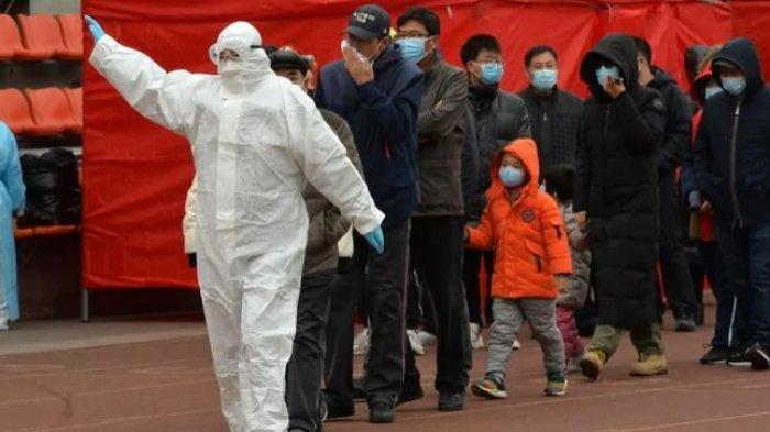 Beredar Video Kekacauan Bandara Pudong Shanghai Saat Semua Staf Diminta Jalani Tes Covid-19