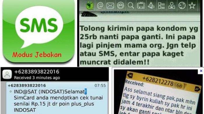 Penipuan lewat sms