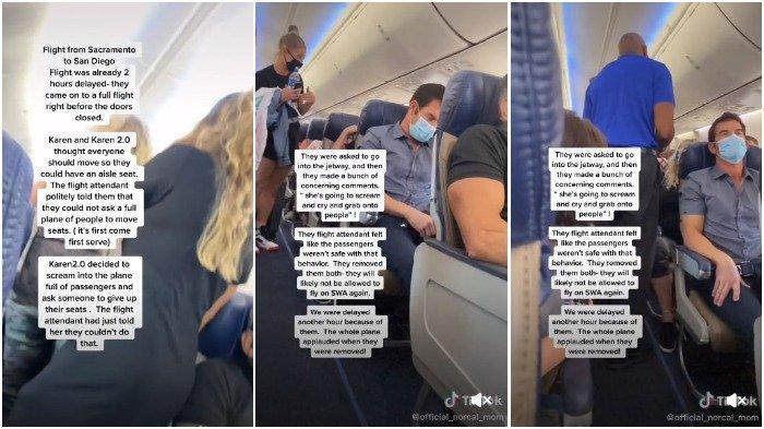 Penumpang berteriak di pesawat ingin dapat kursi lorong