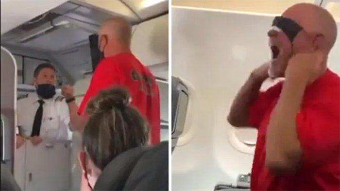 Penumpang Pria Ngamuk di Pesawat, Menggeram pada Awak Kabin & Teriakkan Nama Joe Biden