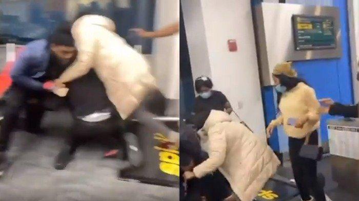 Video Viral Penumpang Pesawat Menyerang Staf Maskapai Hanya Gara-gara Ukuran Tas Jinjing