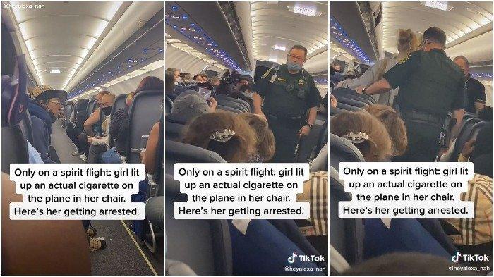 Penumpang wanita diturunkan dari pesawat karena merokok dalam penerbangan