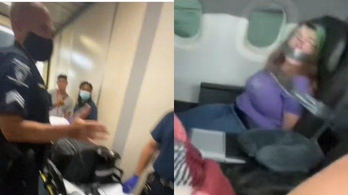 Nekat Buka Pintu Pesawat dan Gigit Pramugari, Penumpang Ini Direkatkan Ke Kursi dengan Selotip