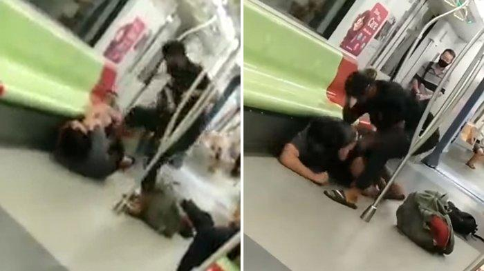 Viral Pria Tua Nekat Pukuli Anak Muda di Kereta, Polisi Turun Tangan