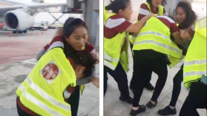 Viral Video - Dua Petugas Ground-Handling Berkelahi di Bandara Changi Singapura