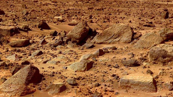 Ilustrasi Permukaan Planet Mars