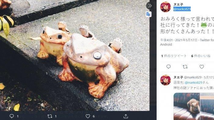 Pernak-pernik katak di Kuil Omirokusama